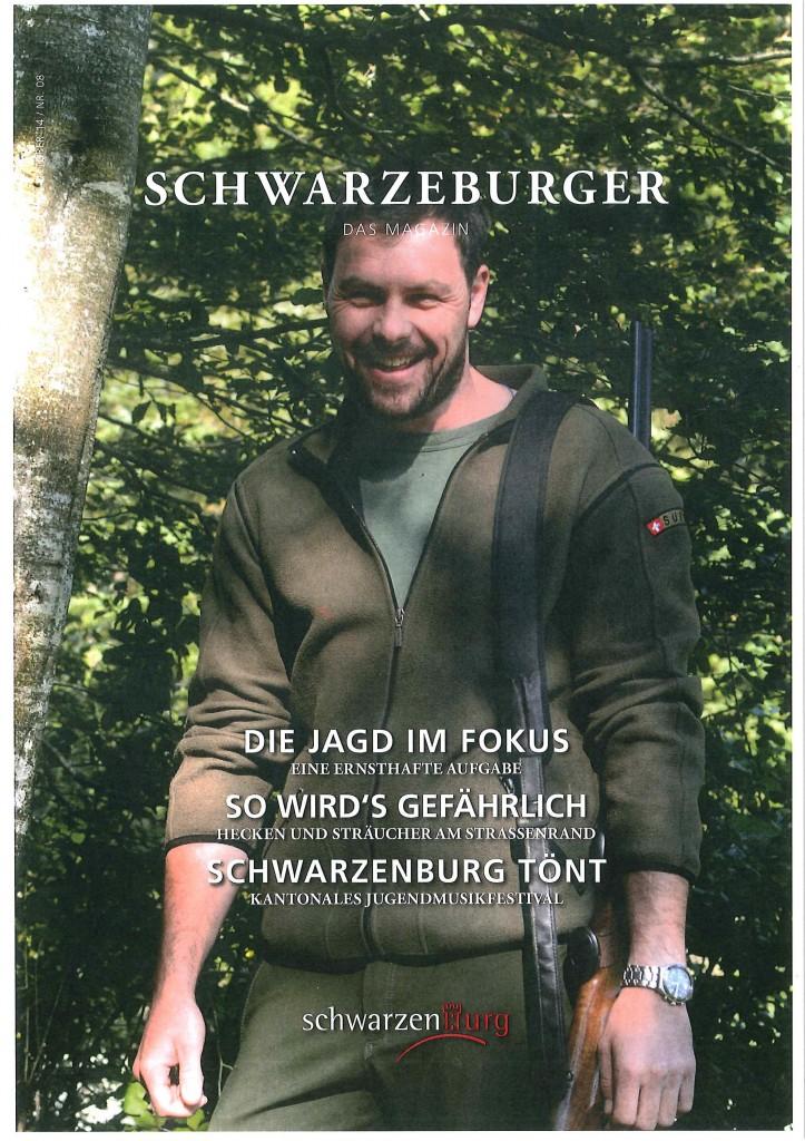 Artikel Jagd im Schwarzenburger Magazin Okt